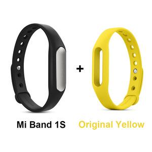 Купить Фитнес-браслет Xiaomi Mi Band Pulse 1S + Желтый ремешок