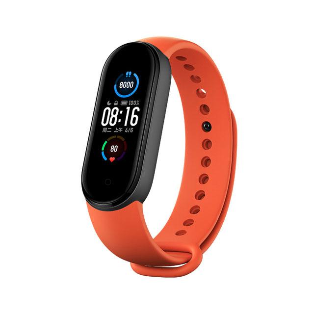 Купить Оригинальный ремешок Xiaomi Strap Orange для фитнес-браслета Xiaomi Mi Band 5 | 6