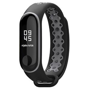 Купить Силиконовый ремешок Mijobs Sport Black/Grey для фитнес-браслета Xiaomi Mi Band 3/4