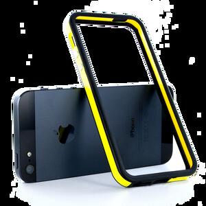 Купить Двухцветный черно-желтый бампер для iPhone 5/5S/SE