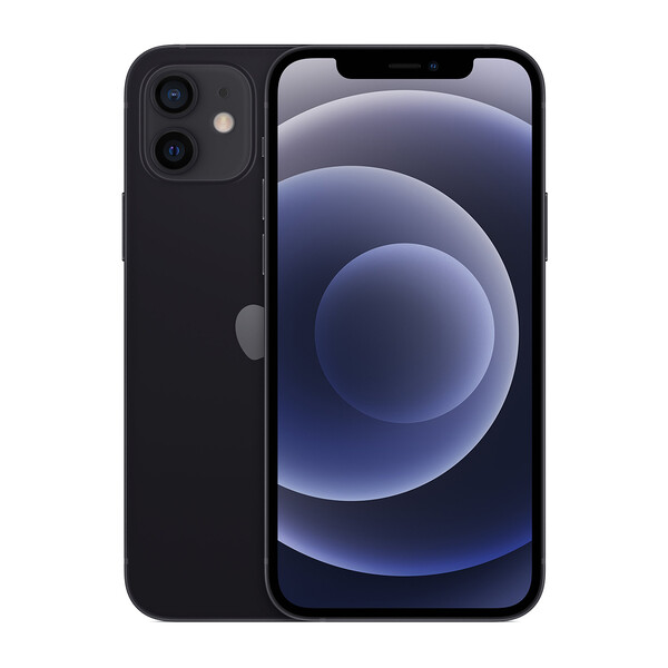 Заднее стекло (Black) для iPhone 12 mini