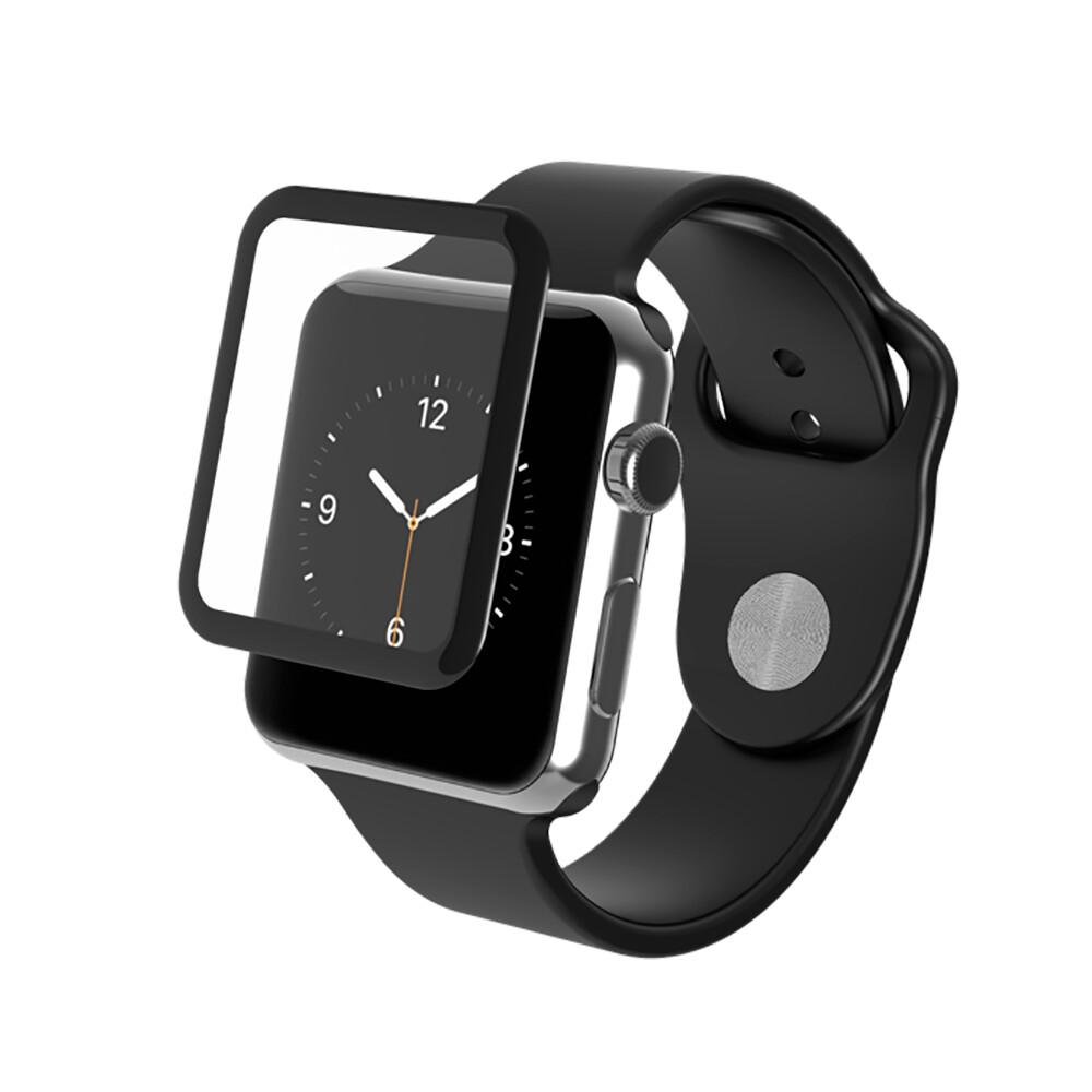 Защитное стекло InvisibleShield Glass Luxe Black Finish для Apple Watch 38mm Series 3 | 2 | 1