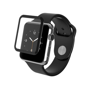 Купить Защитное стекло ZAGG InvisibleShield Glass Luxe Black Finish для Apple Watch 38mm Series 1/2/3, Цена 484 грн