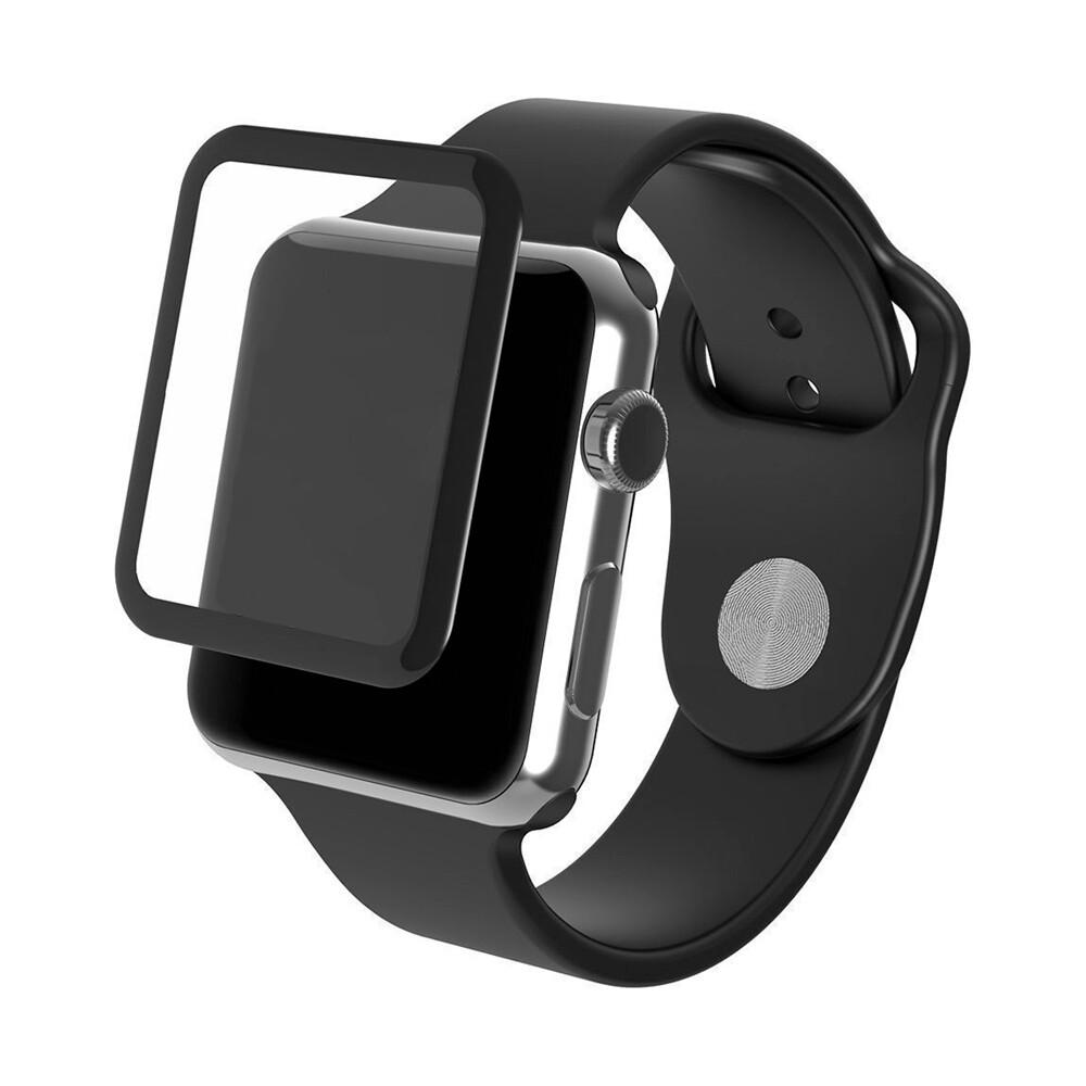 Защитное стекло InvisibleShield Glass Luxe Black Finish для Apple Watch 42mm Series 3   2   1