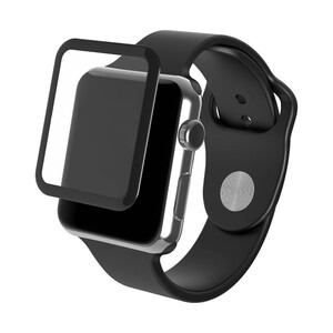 Купить Защитное стекло ZAGG InvisibleShield Glass Luxe Black Finish для Apple Watch 42mm Series 1/2/3