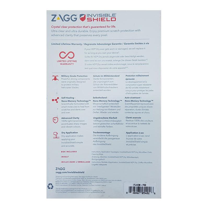 Защитная пленка Zagg InvisibleShield HD Dry