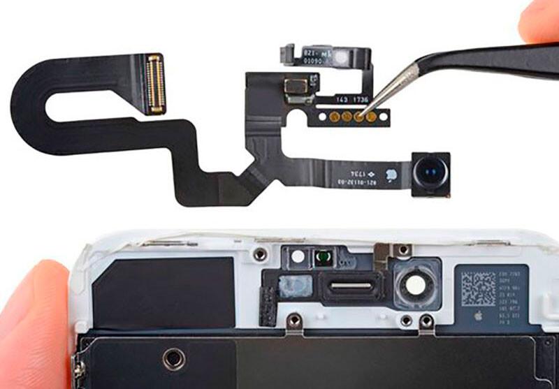 Замена фронтальной камеры iPhone 8 Plus