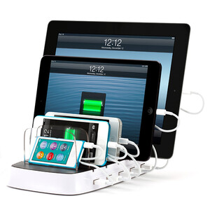 Мульти-зарядка GRIFFIN PowerDock 5 для iPhone/iPad/iPod