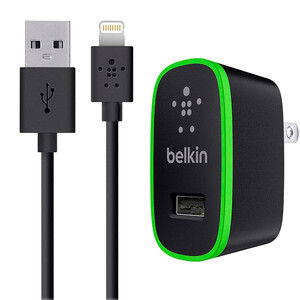Купить Зарядное устройство Belkin Home Charger Black Lightning Cable (10 Watt/2.1 Amp)