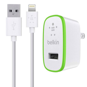 Купить Зарядное устройство Belkin Home Charger White Lightning Cable (12 Watt/2.1 Amp)