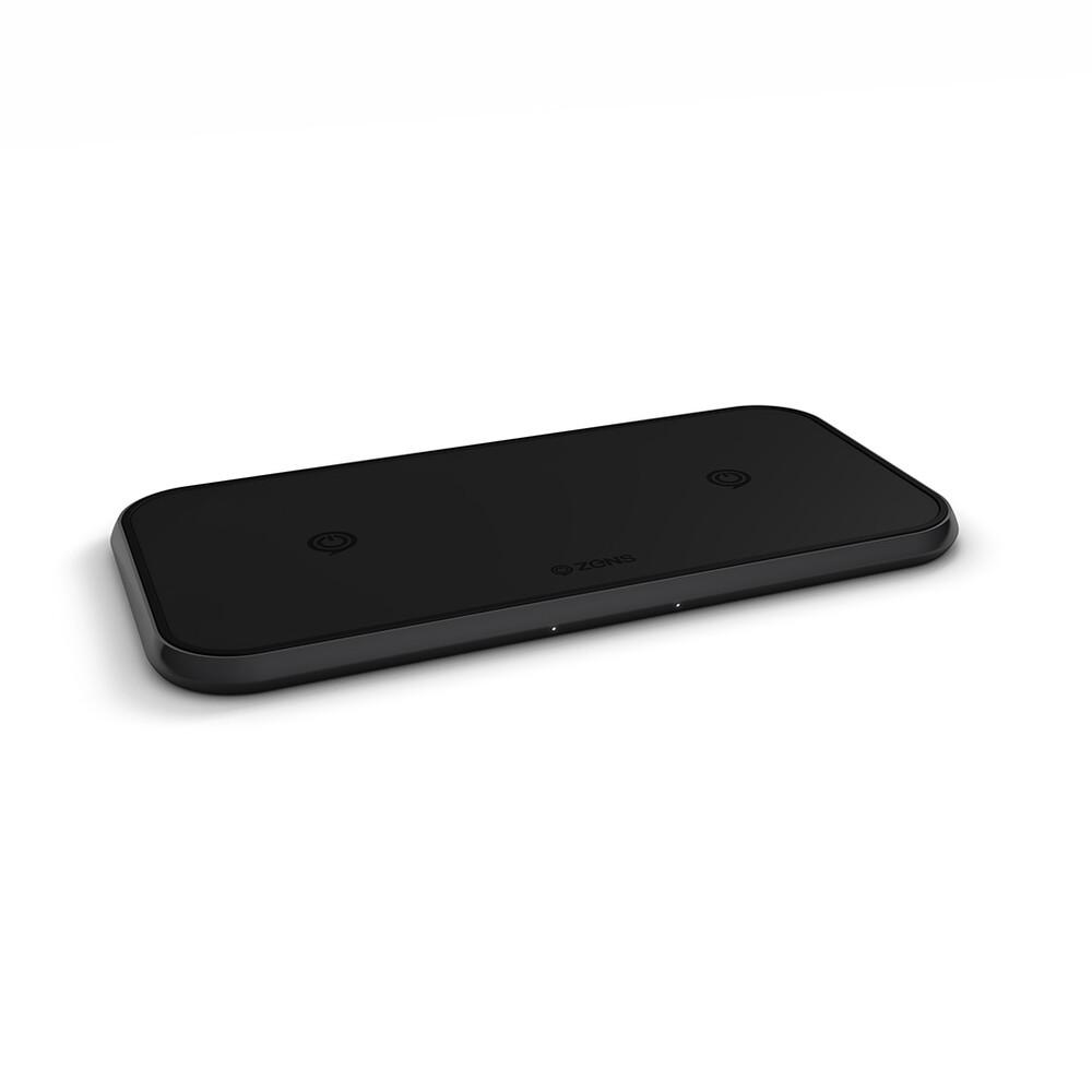Беспроводная зарядка Zens Dual Aluminium Wireless Charger 10W Black
