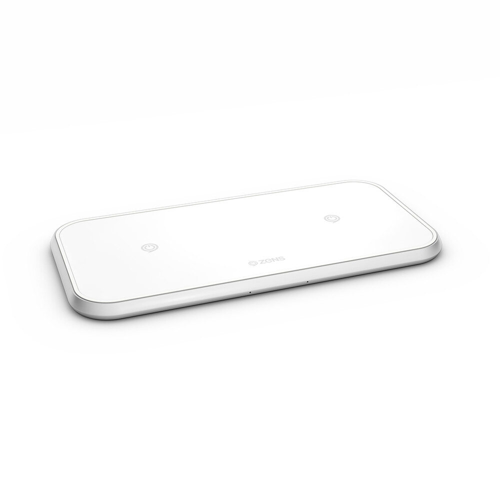 Беспроводная зарядка Zens Dual Aluminium Wireless Charger 10W White