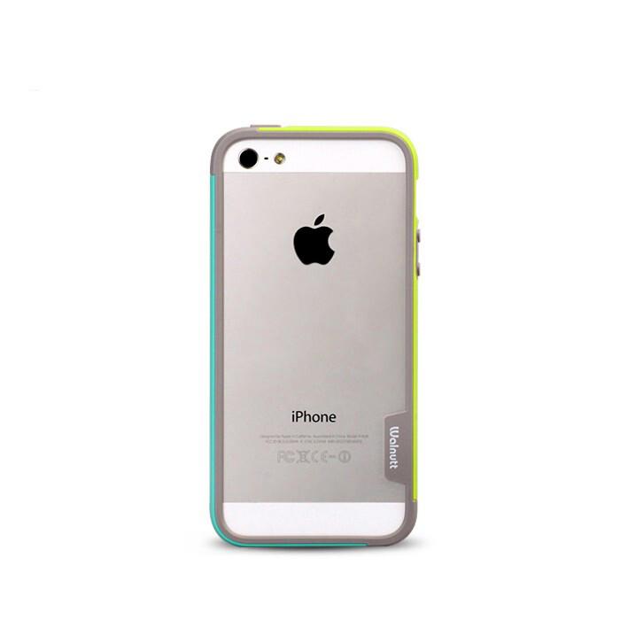 Бампер Zenus Walnutt Bumper Trio Green/Mint для iPhone 5/5S/SE