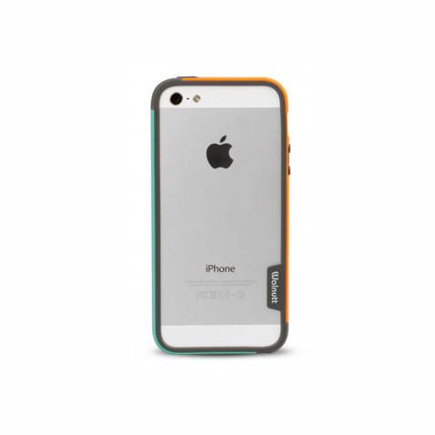 Бампер Zenus Walnutt Bumper Trio Orange/Emerald Green для iPhone 5/5S/SE