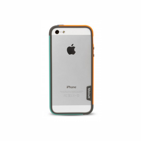 Бампер Zenus Walnutt Bumper Trio Orange/Emerald Green для iPhone 5/5S/SE
