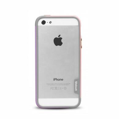 Бампер Zenus Walnutt Bumper Trio Pink/Violet для iPhone 5/5S/SE