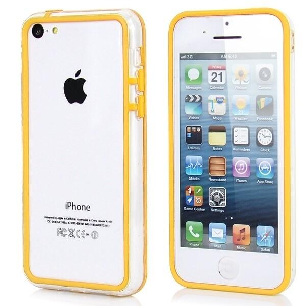 Прозрачный желтый бампер для iPhone 5C
