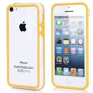 Купить Прозрачный желтый бампер для iPhone 5C