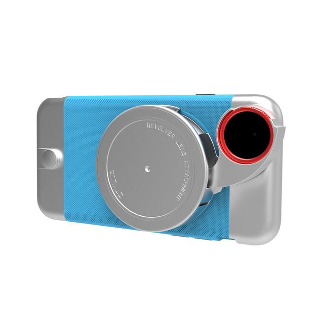 Чехол с камерой Ztylus Metal Camera Kit Blue для iPhone 6/6s