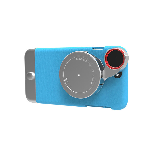 Чехол с камерой Ztylus Metal Camera Kit Blue для iPhone 6/6s Plus