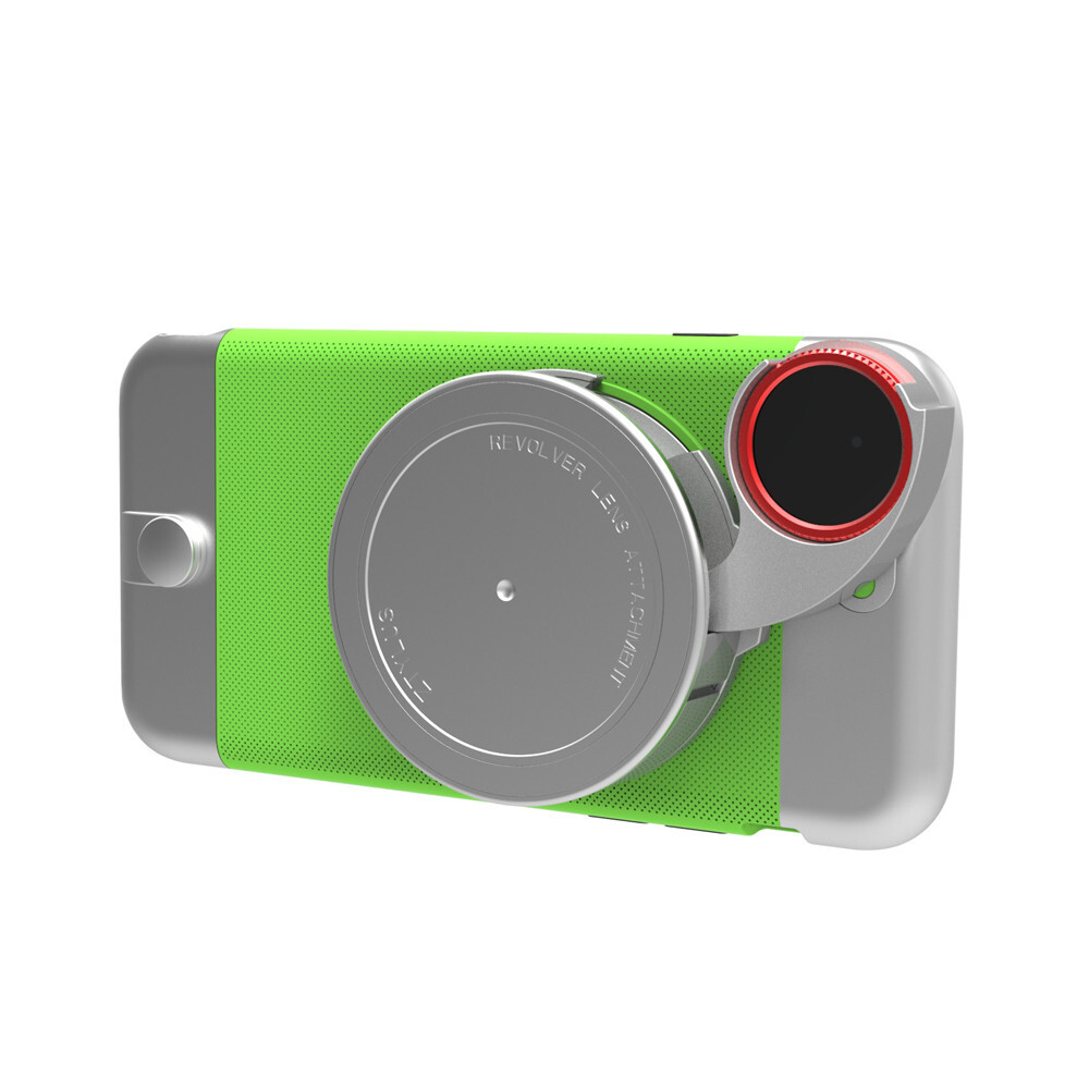 Чехол с камерой Ztylus Metal Camera Kit Green для iPhone 6/6s