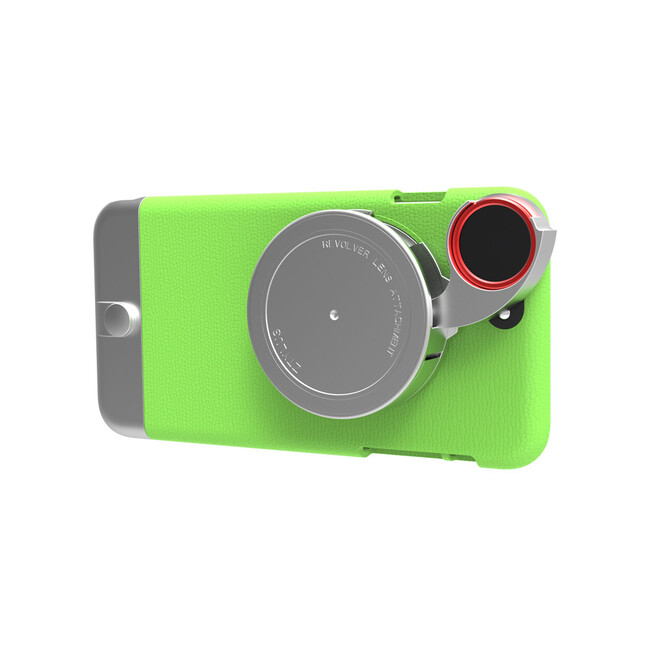 Чехол с камерой Ztylus Metal Camera Kit Green для iPhone 6/6s Plus