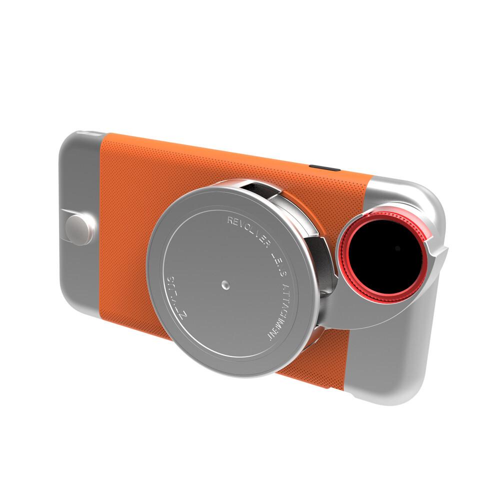 Чехол с камерой Ztylus Metal Camera Kit Orange для iPhone 6/6s