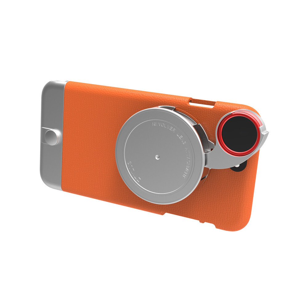 Чехол с камерой Ztylus Metal Camera Kit Orange для iPhone 6/6s Plus