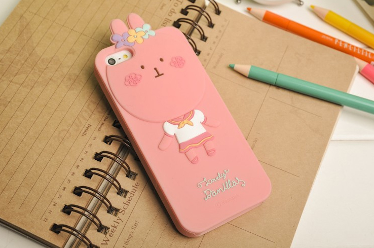 3d чехол momo's iphone 5 rabbit