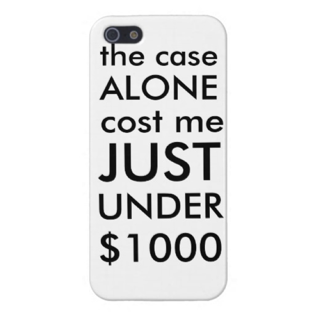Чехол Zazzle Slightly Less Expensive Case для iPhone 5/5S