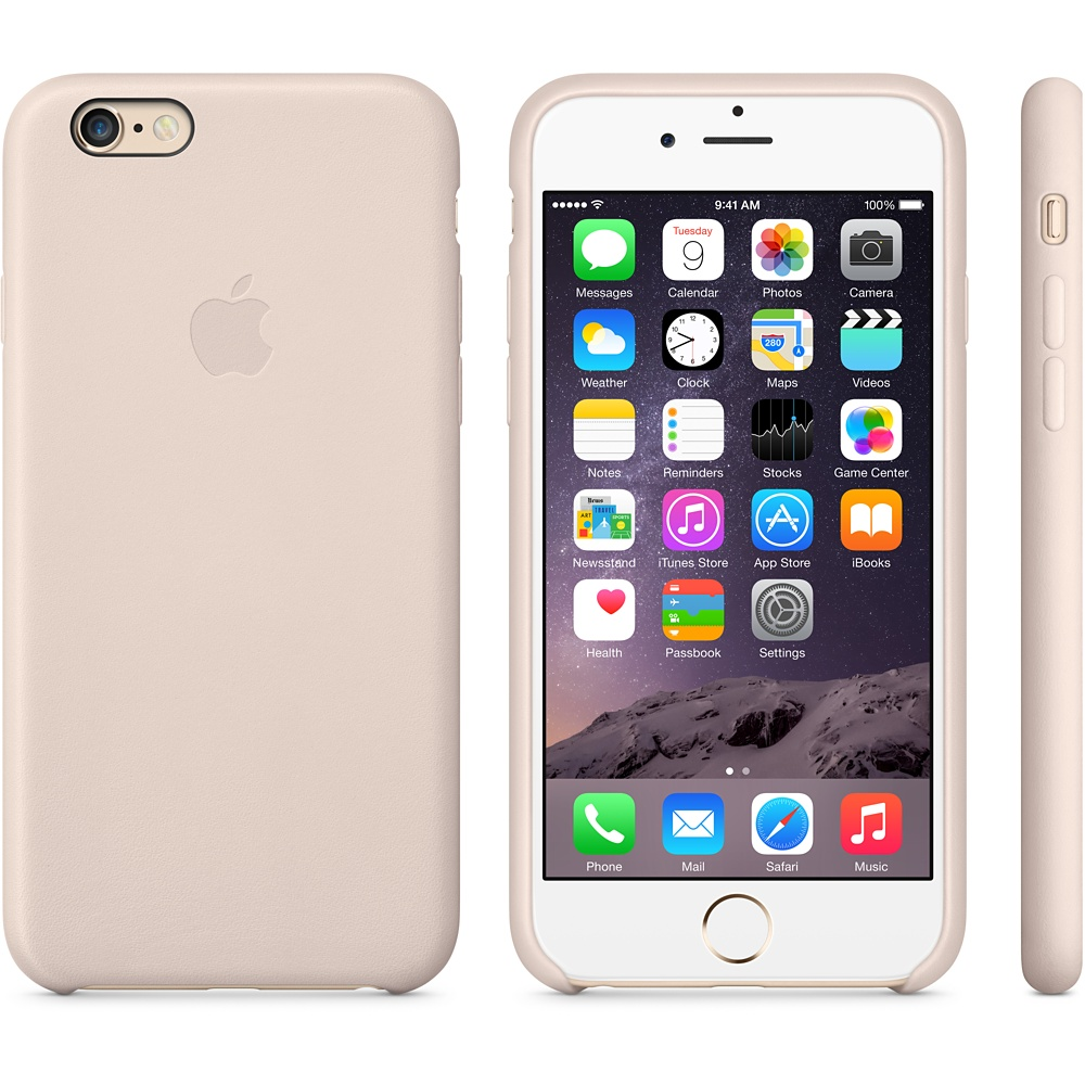 чехол Apple Leather Case Soft Pink на iPhone 6