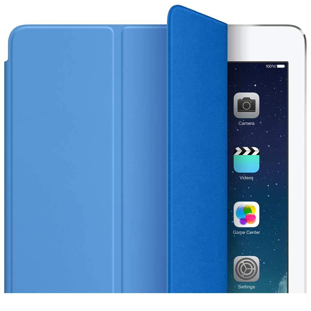 apple smart cover ipad air blue