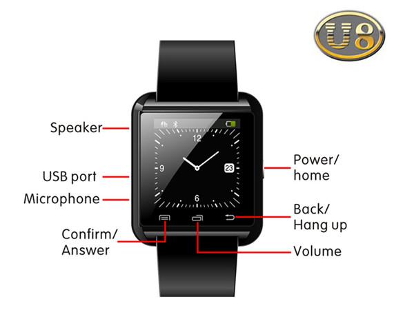 bluetooth часы U Watch U8