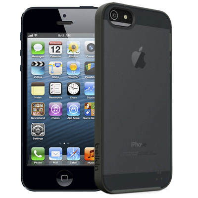 чехол belkin grip candy sheer iphone 5 черный