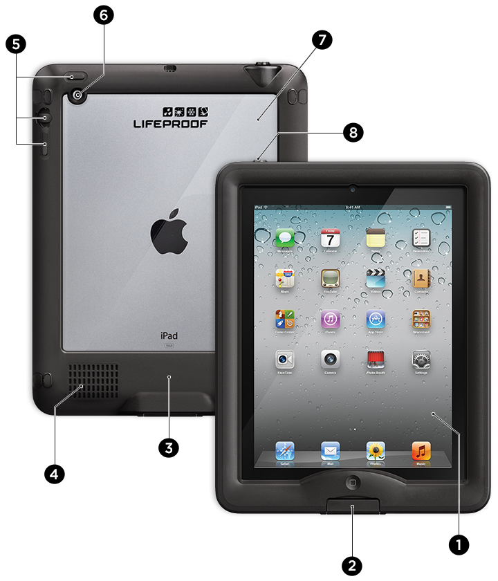 чехол lifeproof nuud для ipad