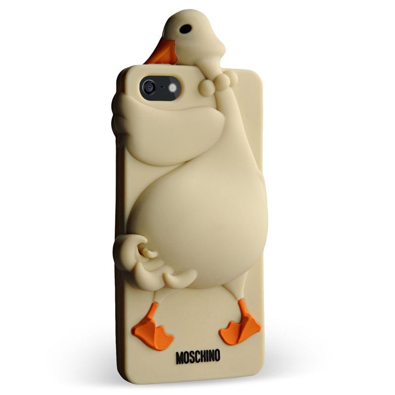 moschino 3d silicone goose iphone 5 5s
