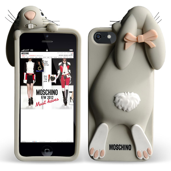 sports shoes c2a27 23f3a Чехол Moschino 3D Rabbit Violetta для iPhone 4/4S