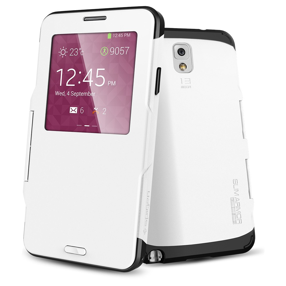 Чехол SGP Slim Armor View White для Samsung Galaxy Note 3