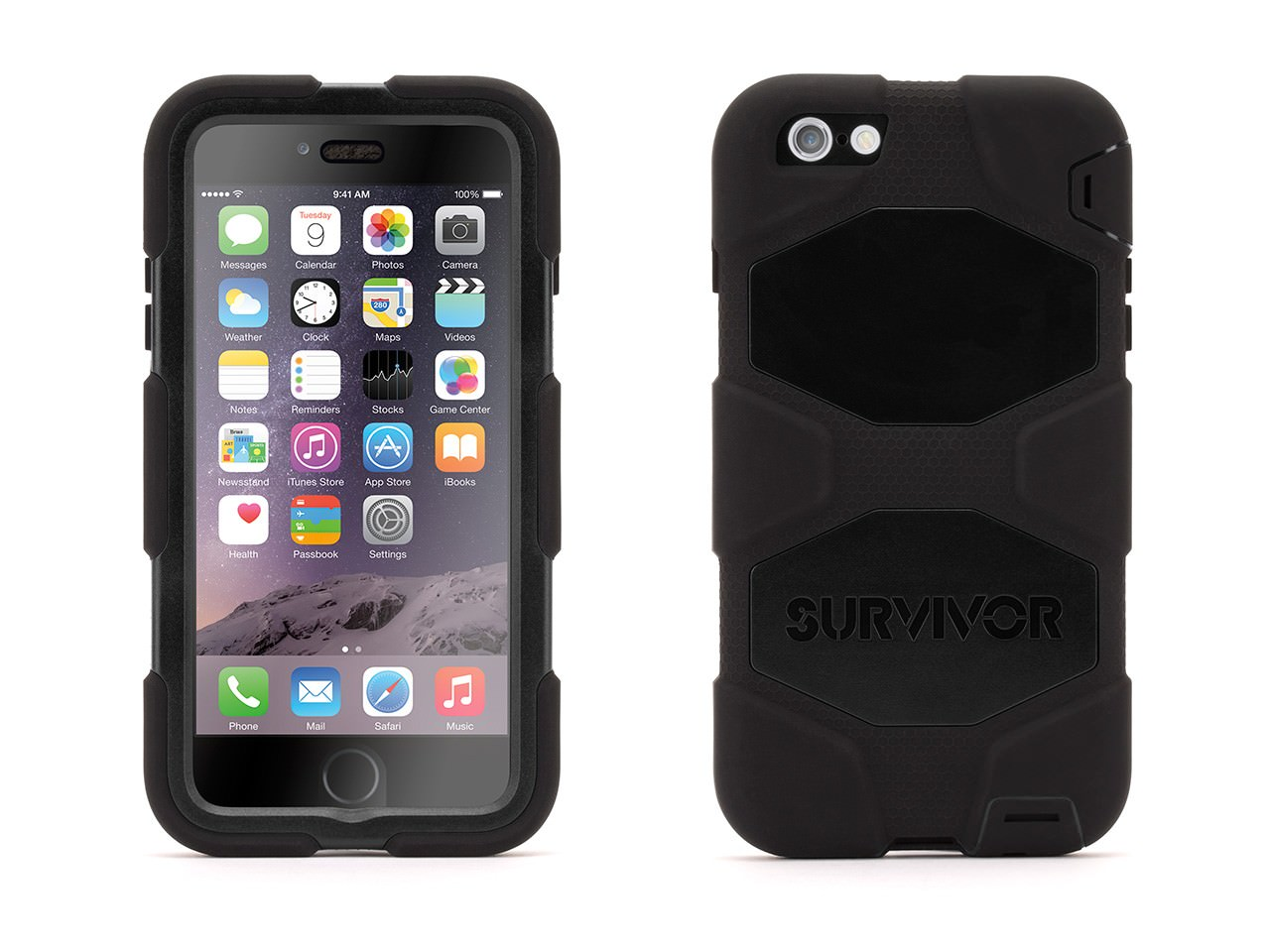 griffin survivor all-terrain black для iphone 6 plus