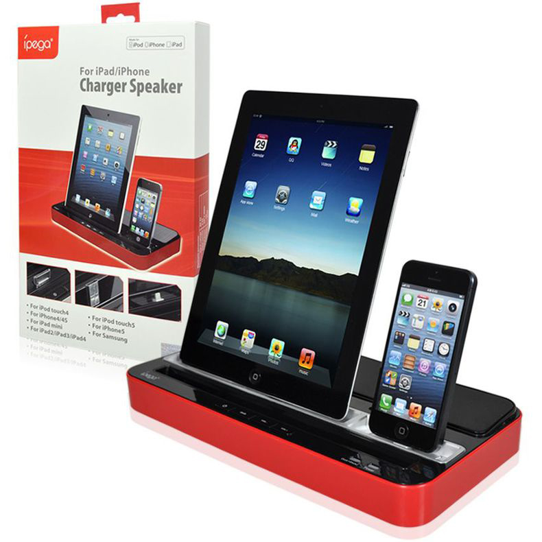 iPEGA Multi Functional Charger Dock Station Stand Stereo Speaker iPhone iPad iPod