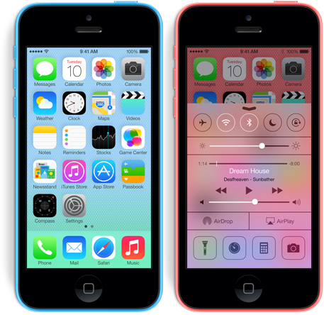 iphone 5c ios 7