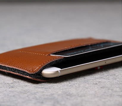 d-park handmade genuine leather flip sleeve iphone 6