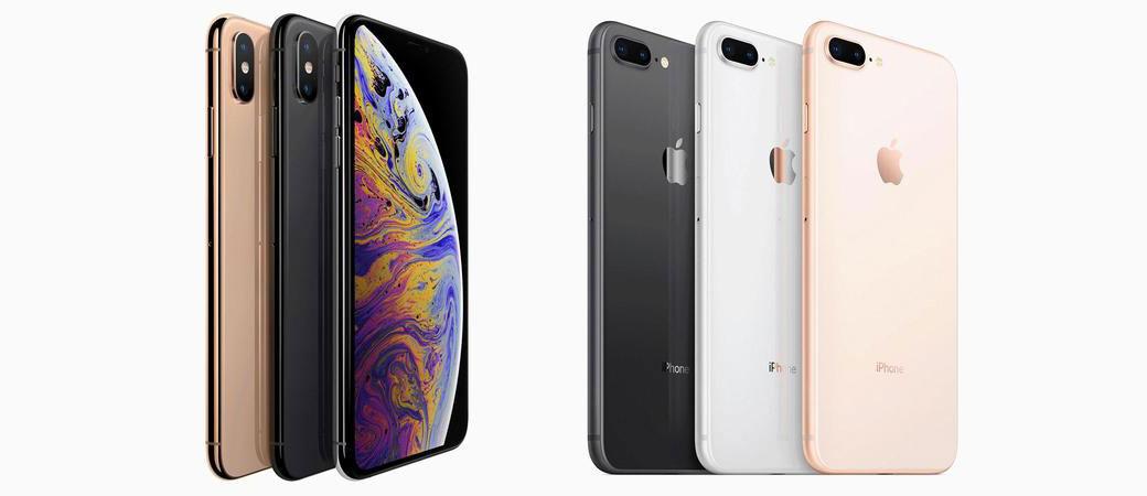 Сравнение iPhone XS Max и iPhone 8 Plus