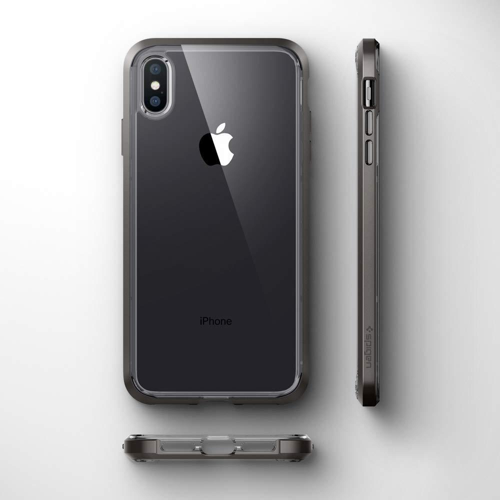 new concept 742ba 22593 Чехол Spigen Neo Hybrid Crystal Gunmetal для iPhone XS Max