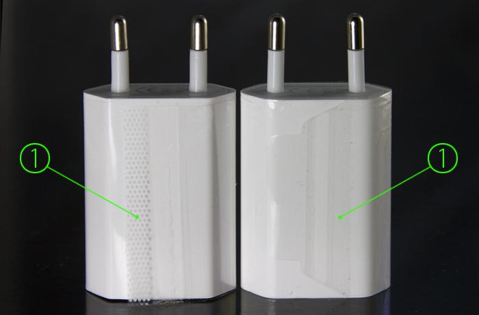 как отличить оригинальную зарядку Apple для Iphone от китайской