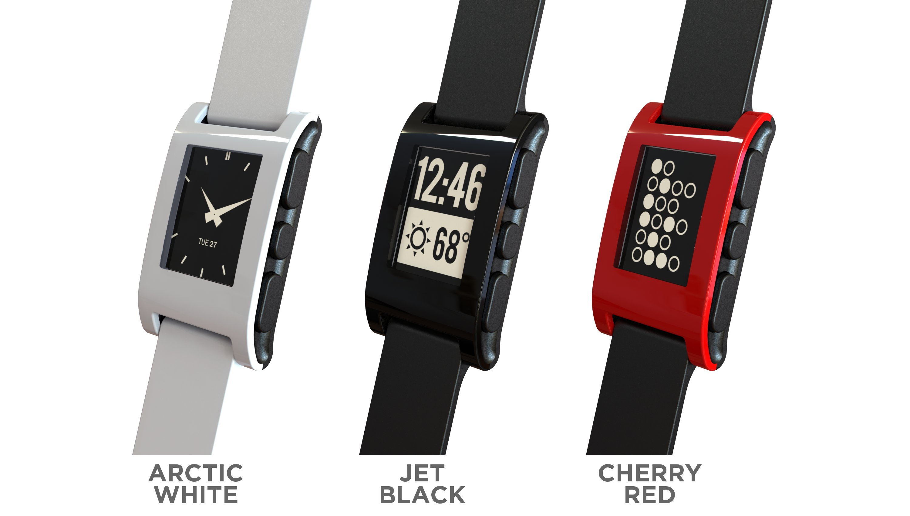 pebble e-paper watch iphone